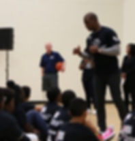 Mark Adams and Chris Paul Speak to Youth Basketball Players
