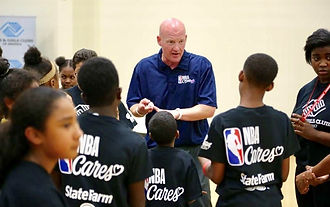 Mark Adams Public Speaking at NBA Cares Clinic