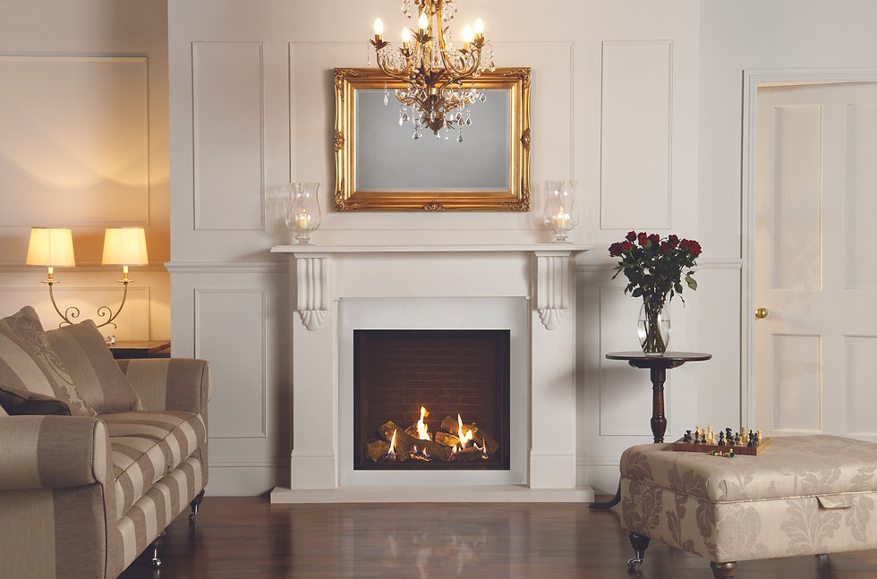 Riva2 750HL with Victorian corbel mantel