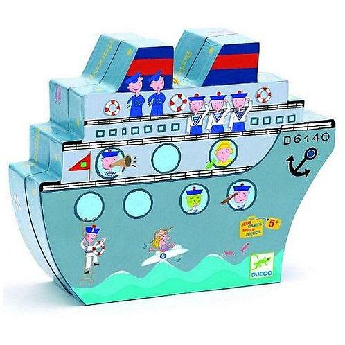 Djeco Επιτραπέζιο Ναυμαχία σε κουτί παιχνιδιού καράβι