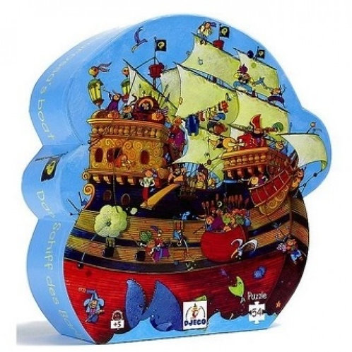 Djeco Παζλ σε σχηματικό κουτί 54 τεμ. 'Πειρατικό καράβι'