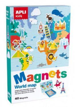 Μαγνητικά World map