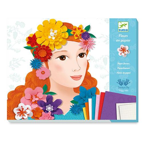 Djeco κατασκευή με χαρτί - Κολάζ 'Λουλουδένια Κορίτσια΄