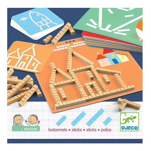 Εκπαιδευτικό παιχνίδι σύνθεσης εικόνας - αρίθμησης με ξυλάκια