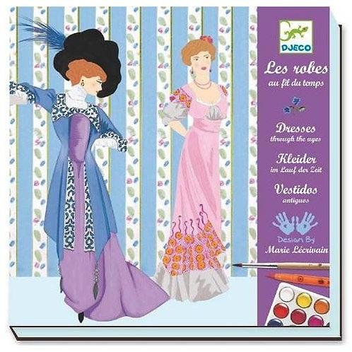 Djeco Ζωγραφική με μαρκαδόρους και νερομπογιές 'Φορέματα εποχής'