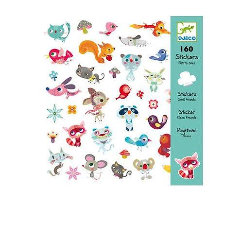Djeco 160 Αυτοκόλλητα σε 4 καρτέλες 'Μικροί φίλοι'