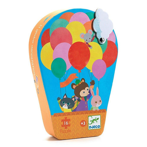 Djeco Μίνι Παζλ 16 τεμ. 'Αερόστατο'