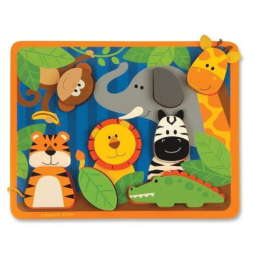 Ξυλινο Puzzle Σφηνωματα, Zoo