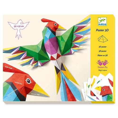 Κατασκευάζω με χαρτί τρισδιάστατα 'Πουλιά Αμαζονίου'