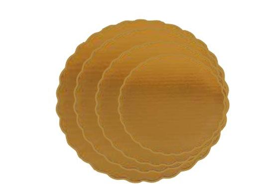 Base redonda dorada doble corrugado