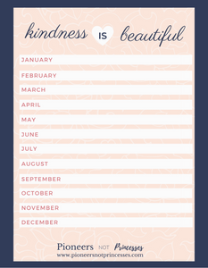 12 month of kindness, kindness for kids, ways to be kind
