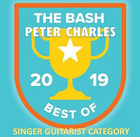 Peter Charles award winning singer guitarist