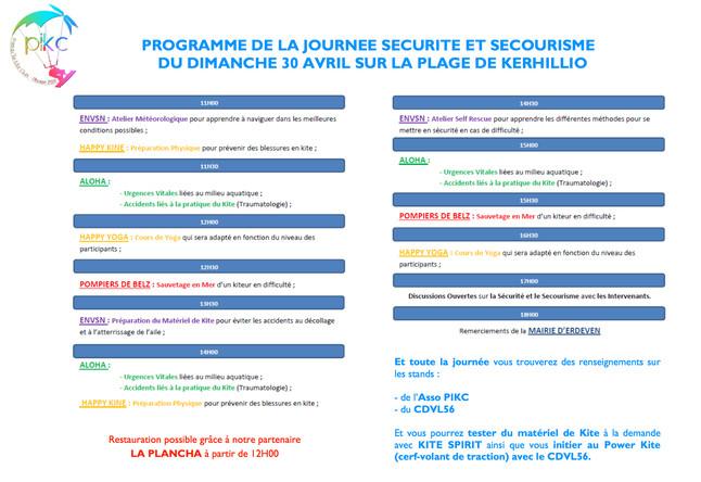 LE PROGRAME DE LA JOURNEE SECURITE/SECOURISME !!