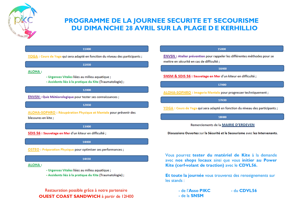 PROGRAMME JOURNEE SECURITE ET SECOURISME