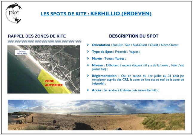Zones de kites sur la presqu'île de Quiberon !!