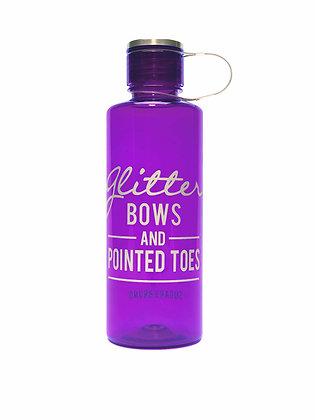 Glitter Bows Bottle, Purple
