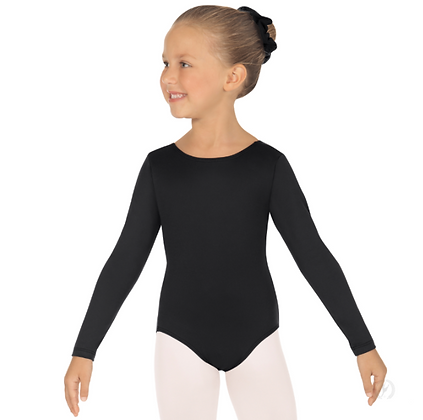 Eurotard Girls Long Sleeve Leotard with Tactel® Microfiber