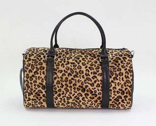 American Jewel Leopard duffle
