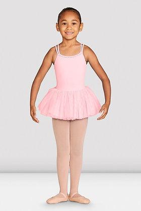Girls Dottie Cross Back Tutu Dress Pink