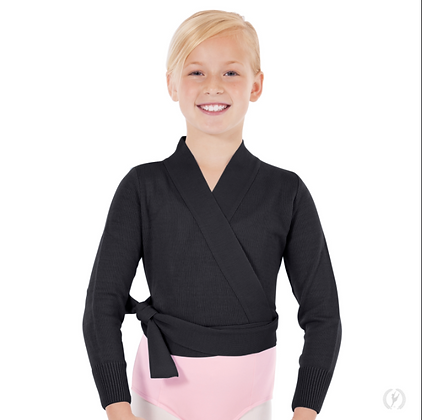 Eurotard Girls Soft Knit Wrap Ballet Sweater