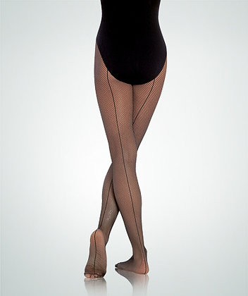 Body Wrappers A62 TotalSTRETCH®Seamed Fishnet Tights
