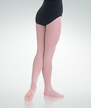 Body Wrappers A45 TotalSTRETCH® Mesh Back Seam Convertible Tights