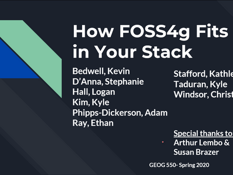 How FOSS4g Fits in Your Stack