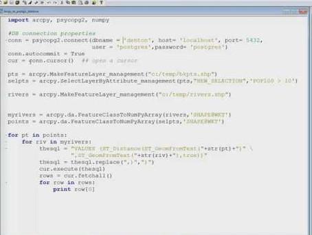 PostGIS Commands in Arcpy