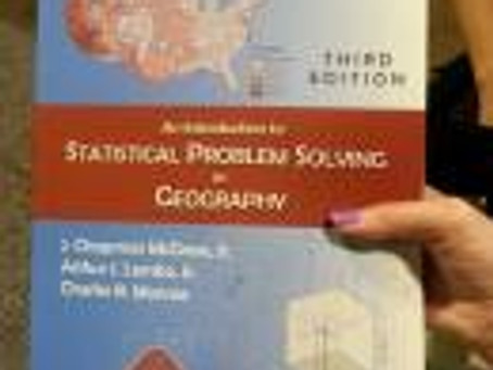 Statistical Problem Solving in Geography – Table of Contents Available Online