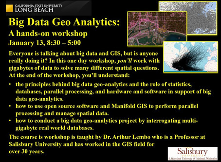 Big data analytics with GIS – the CSULB pilot