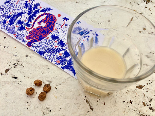 Tiger Mylk artwork, mylk and nuts