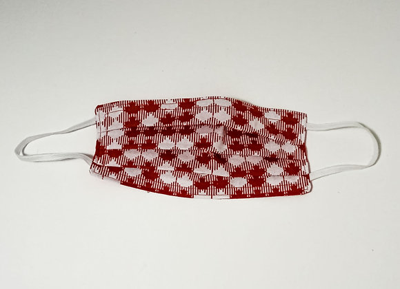 Red and White Checkered Face Mask