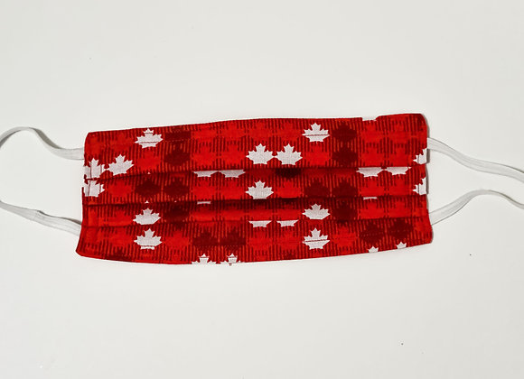 Small White Maple Leaf Face Mask