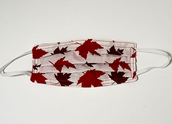 Two-Tone Red Maple Leaf Face Mask
