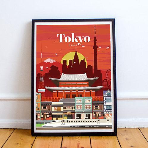 Tokyo Dusk Print