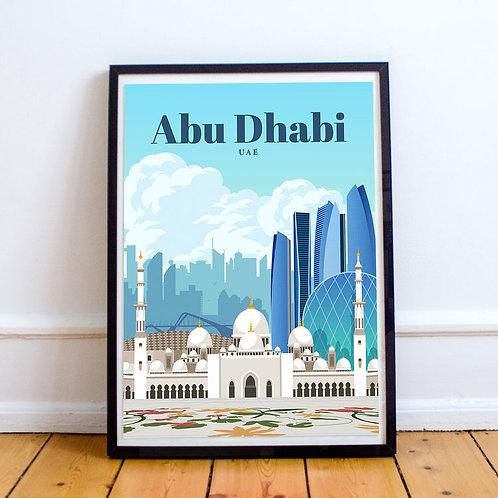 Abu Dhabi Print