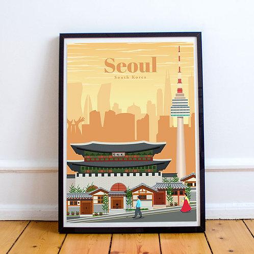 Seoul Print