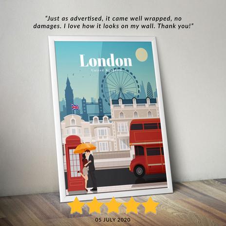 London travel poster
