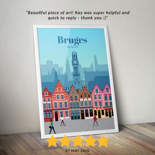 Bruges travel poster