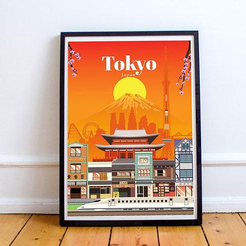 Tokyo Dawn Print