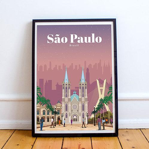 Sao Paulo Print