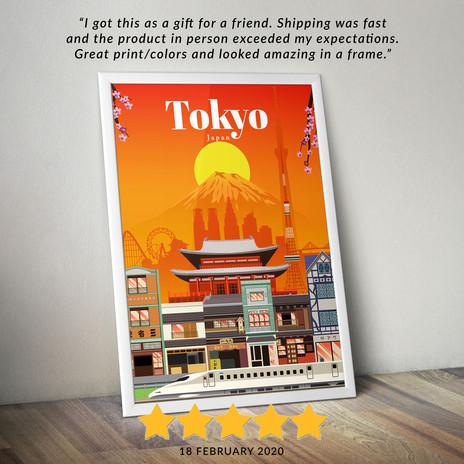 Tokyo travel poster