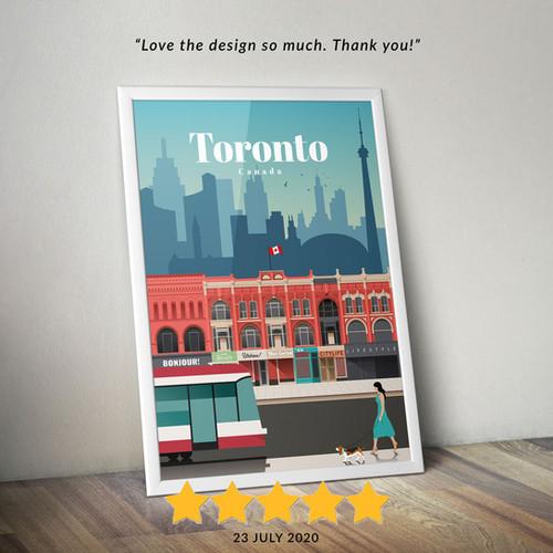 Toronto travel poster