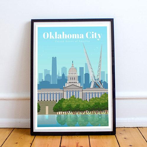 Oklahoma City Print