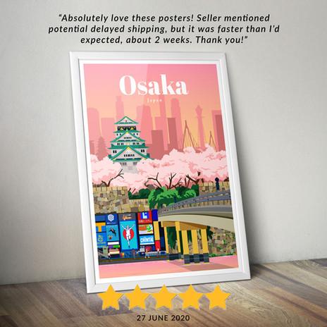 Osaka travel poster