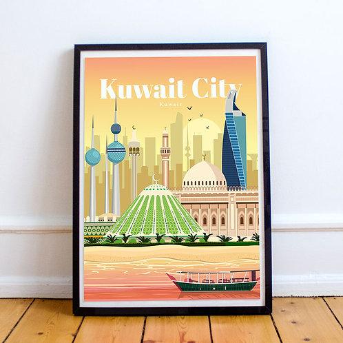 Kuwait City Print