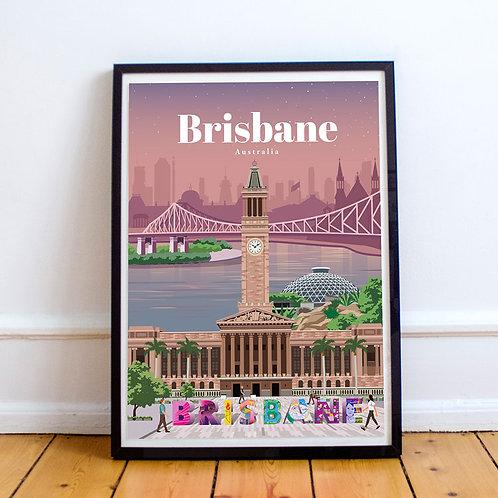 Brisbane Print