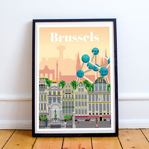 Brussels Print