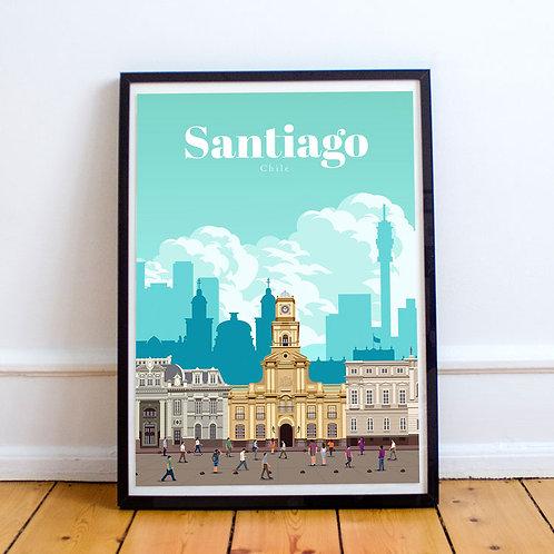 Santiago Print