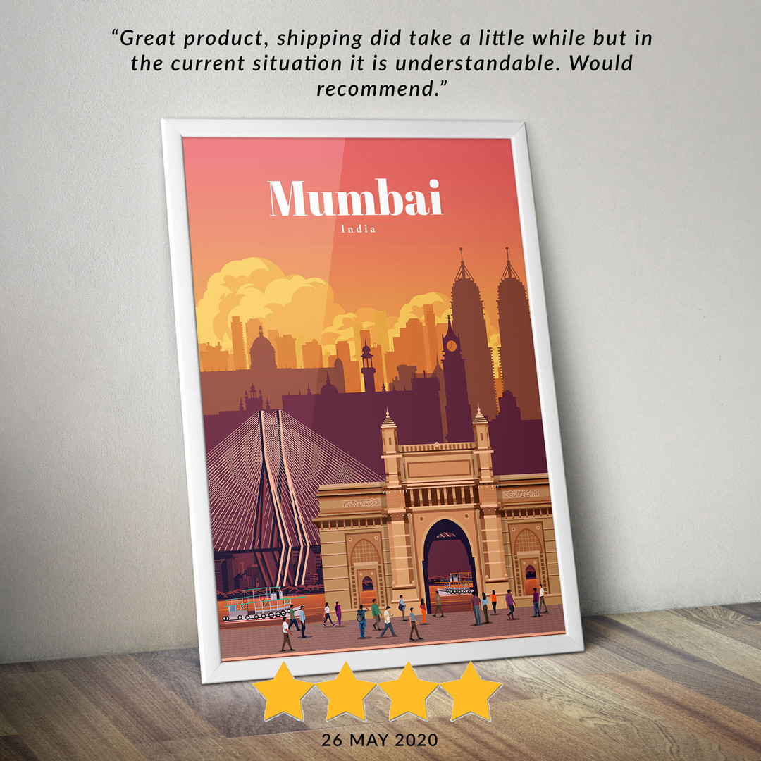 Mumbai travel poster
